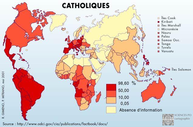 Les catholiques dans le monde